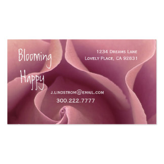 FLORIST  PINK Rose Business Card Template