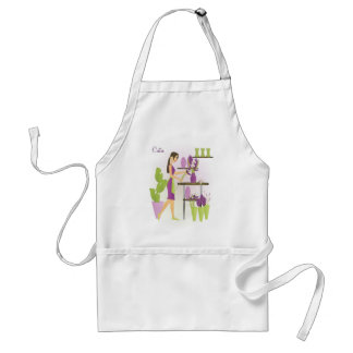 Florist-Purple Adult Apron