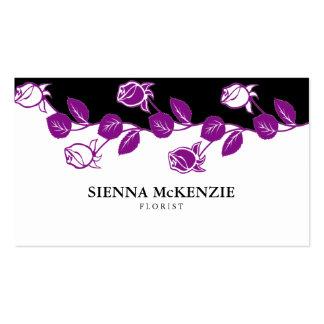 Florist (Purple) Business Card Templates