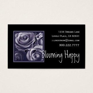 FLORIST -Purple Roses Business Card Template