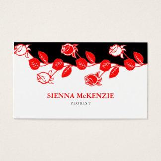 Florist (Red) Business Card