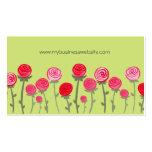 Florist Roses Elegant Pretty Custom Business Card