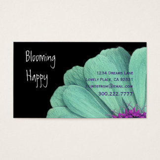 FLORIST - TURQUOISE DAISY Business Card Template