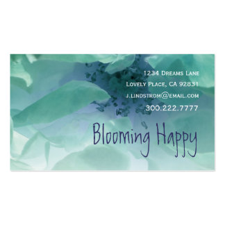 FLORIST - Turquoise Rose Business Card Template