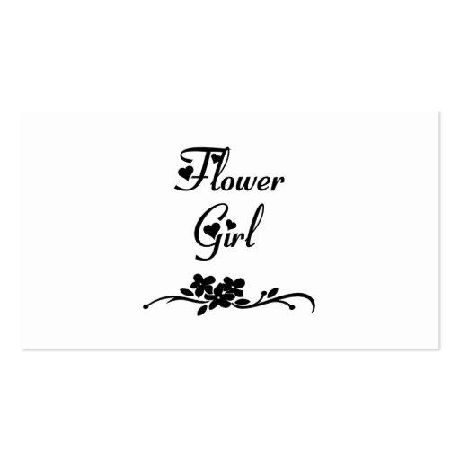 Florista clásico tarjetas de visita