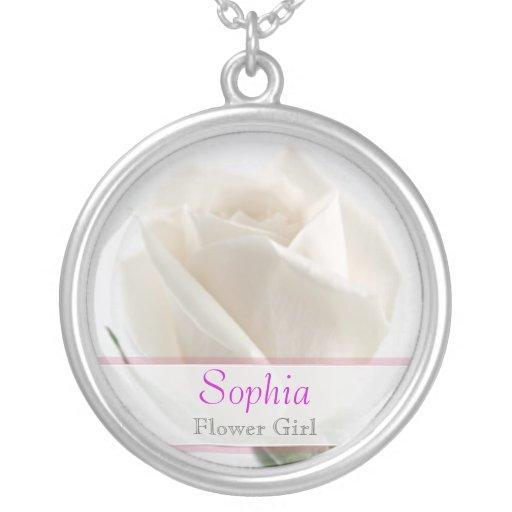 Florista - collar del boda del rosa blanco