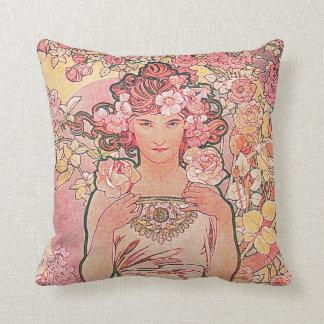 Florista color de rosa elegante elegante almohadas