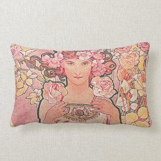 Florista color de rosa rosado elegante elegante almohada