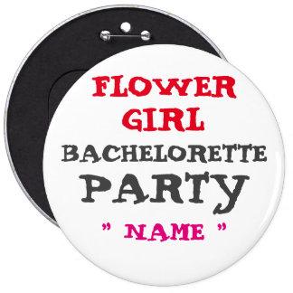 """FLORISTA de encargo de Bachelorette 6"""" botón Pin Redondo De 6 Pulgadas"""