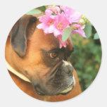 Florista de Jolie Pegatinas Redondas