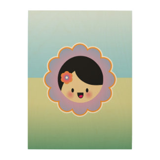 Florista de Kawaii Cuadro De Madera