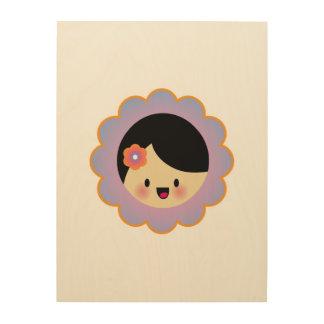 Florista de Kawaii Impresión En Madera