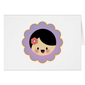 Florista de Kawaii Tarjeta De Felicitación