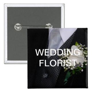 Florista del boda pin cuadrado