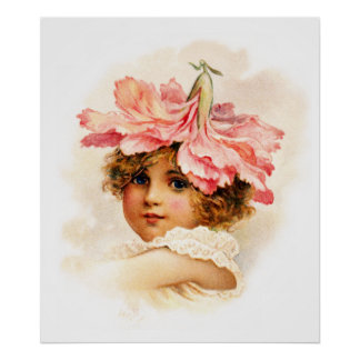 Florista en rosa póster
