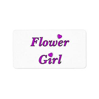 Florista Etiquetas De Dirección