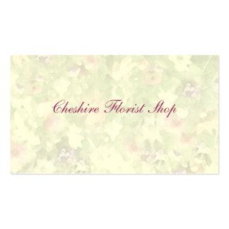 Florista floral de las impresiones tarjeta de visita