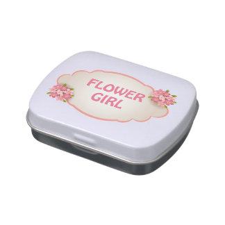 Florista (florales rosados) latas de caramelos