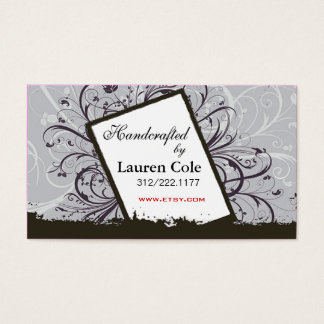 Florista Handcrafted by custom crafts Business Card