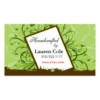 Florista Handcrafted by custom crafts Double-Sided Standard Business Cards (Pack Of 100)