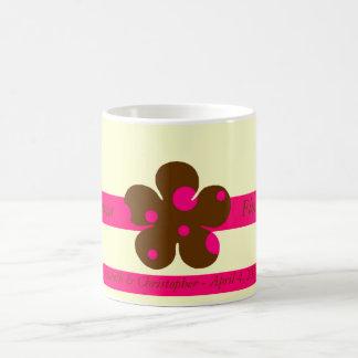 Florista - margarita del lunar taza