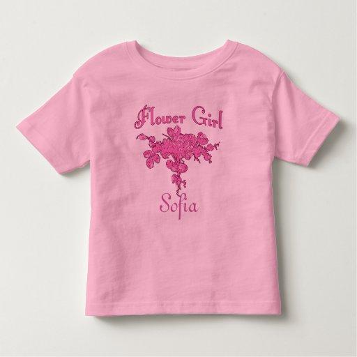 FLORISTA personalizado con el ramo rosado grande Camiseta