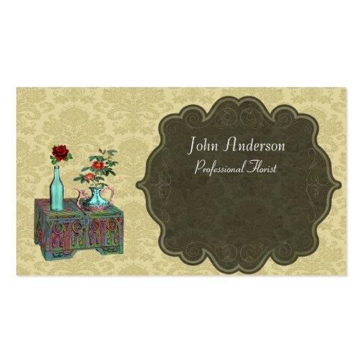 Florista profesional plantilla de tarjeta personal