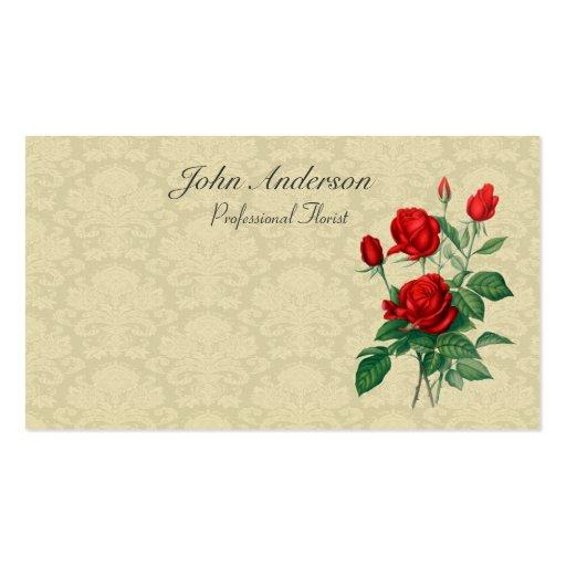 Florista profesional - rosas tarjetas de visita