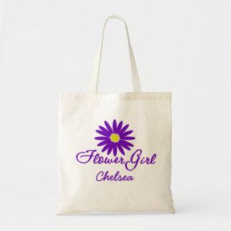 Florista púrpura de la margarita bolsa tela barata