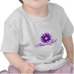 Florista púrpura de la margarita camisetas