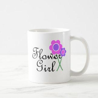 Florista púrpura de la margarita tazas de café