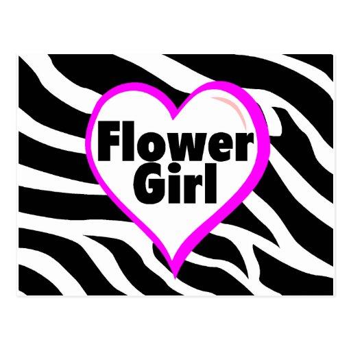 Florista (rayas de la cebra del corazón) postal
