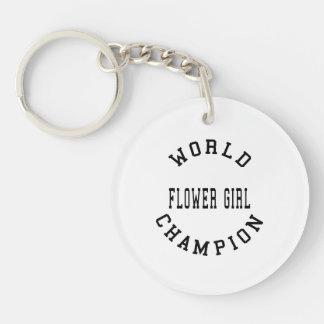Florista retro fresco del campeón del mundo llavero