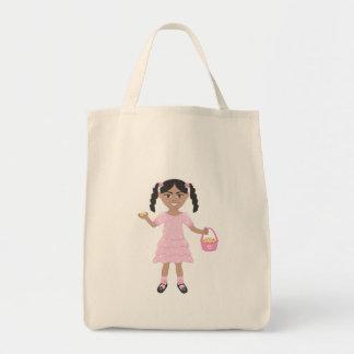 Florista rosado bolsa tela para la compra