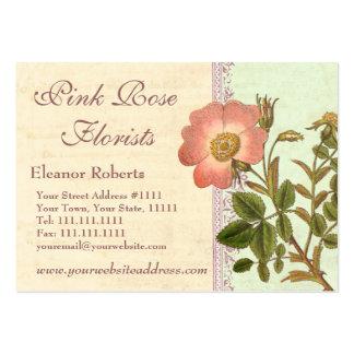 Florista rosado bonito de la rosaleda plantillas de tarjeta de negocio