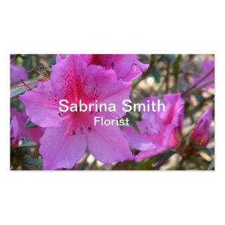 Florista rosado de las flores de las azaleas plantillas de tarjetas personales
