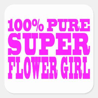 Floristas: Florista estupendo rosado Colcomanias Cuadradass