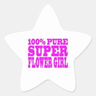 Floristas: Florista estupendo rosado Calcomanías Forma De Estrellas