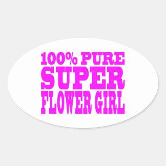 Floristas: Florista estupendo rosado Calcomania De Oval