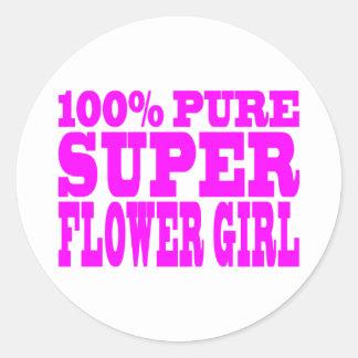 Floristas: Florista estupendo rosado Etiquetas Redondas