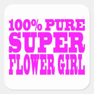 Floristas: Florista estupendo rosado Calcomanía Cuadradas Personalizadas