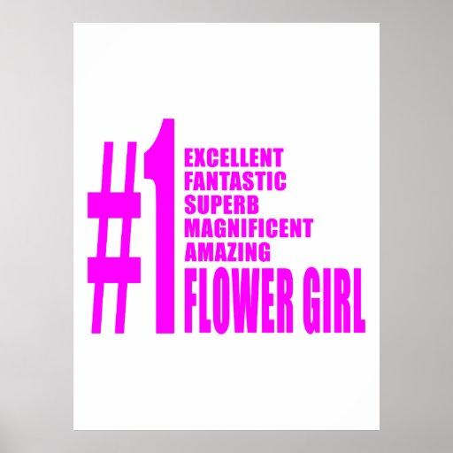 Floristas modernos rosados: Florista del número un Póster