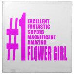 Floristas modernos rosados: Florista del número un Servilleta Imprimida