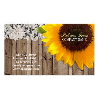 floristería amarilla rústica del país del cordón d tarjetas de visita