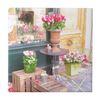 Floristería de París Azulejo Cuadrado Pequeño