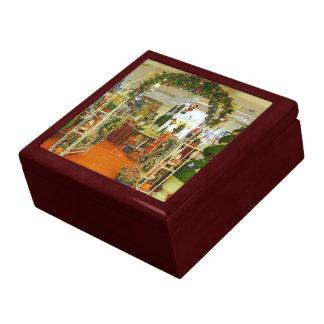Floristería del navidad cajas de joyas