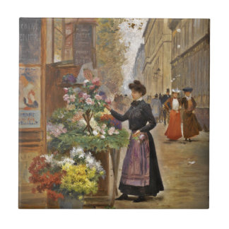 Floristería francesa azulejo cuadrado pequeño