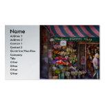 Floristería - NY - floristería de Chelsea - del Hu Plantilla De Tarjeta De Negocio