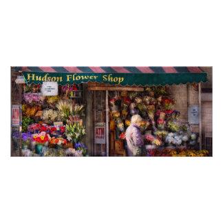 Floristería - NY - floristería de Chelsea - del Hu Tarjetas Publicitarias A Todo Color