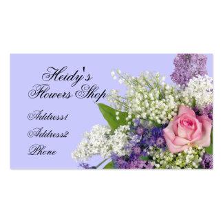 Floristería subió y tarjeta de visita de las lilas
